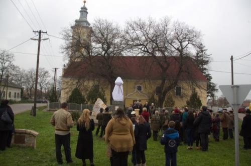 Szobor avatás Tiszanánán 2014.11.22.